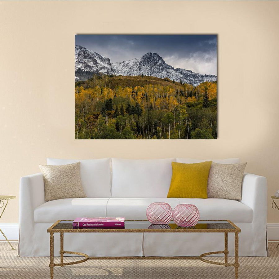 Mount Sneffels And San Juan Mountains Multi Panel Canvas Wall Art 5 Horizontal / Small / Gallery Wrap Tiaracle