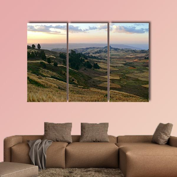 Mountain landscape In Ethiopia Multi Panel Canvas Wall Art 5 Pieces(A) / Medium / Canvas Tiaracle