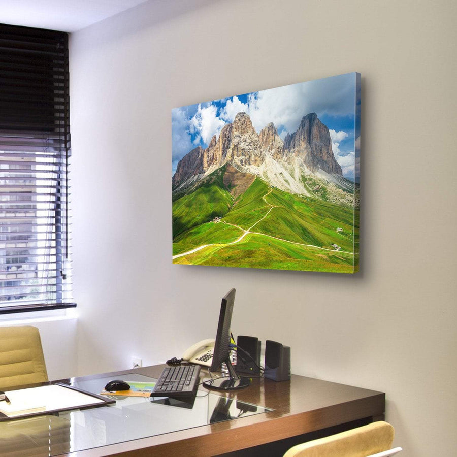 Mountain Range Landscape Canvas Panel Painting Tiaracle