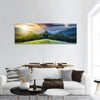 Mountain Range With Forest Panoramic Canvas Wall Art Tiaracle