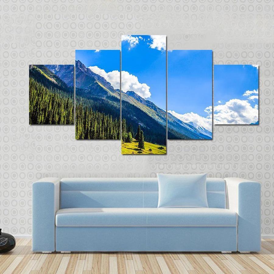 Mountain Summit Landscape Canvas Panel Painting Tiaracle