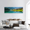 Mountain Village With Lake Auronzo Panoramic Canvas Wall Art 1 Piece / Small Tiaracle