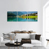 Mountain Village With Lake Auronzo Panoramic Canvas Wall Art 3 Piece / Small Tiaracle