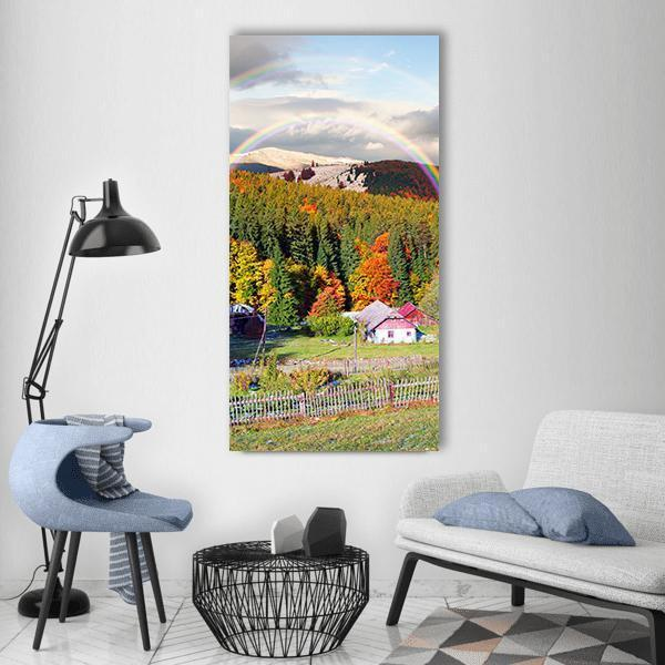 Mountain Villages Of Carpathians Ukraine Vertical Canvas Wall Art 3 Vertical / Small / Gallery Wrap Tiaracle