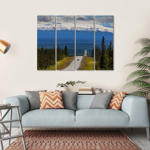 Mountains In Alaska Multi Panel Canvas Wall Art-1 Piece-Small-Gallery Wrap-Tiaracle