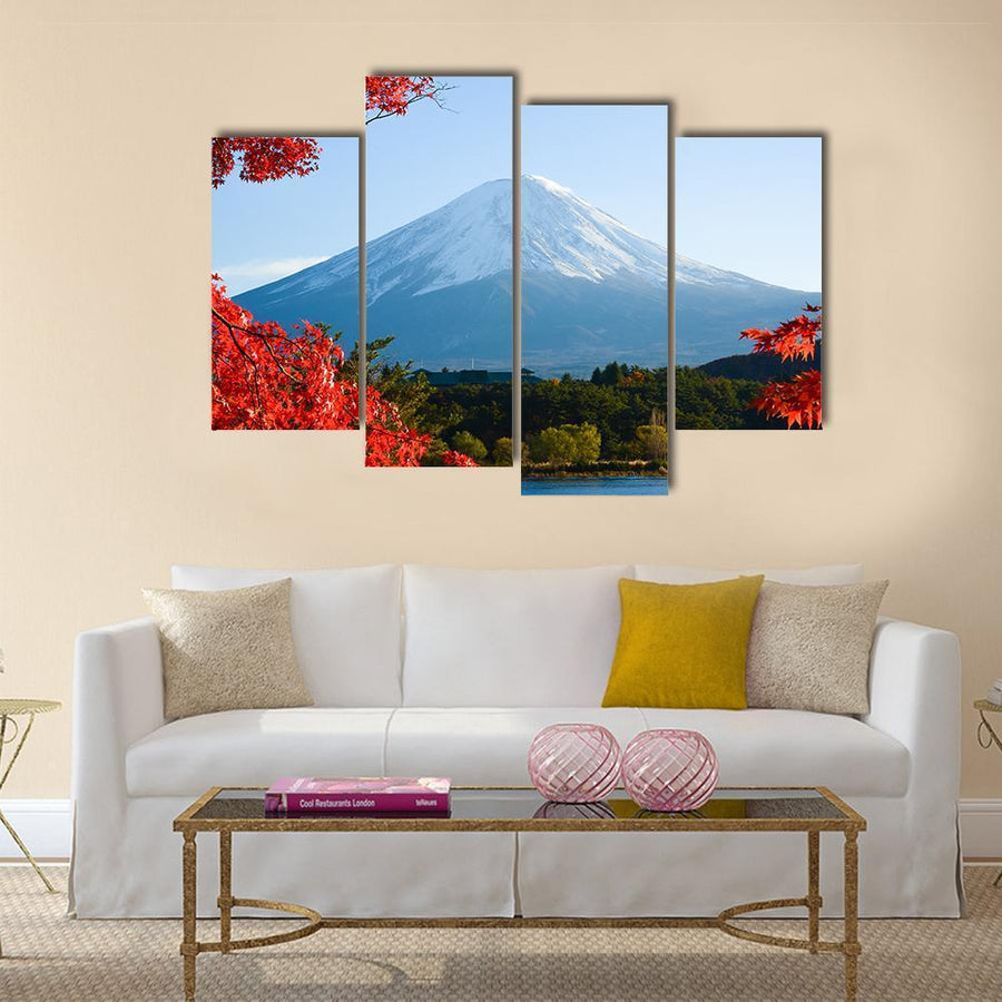 Beautiful Mt Fuji In Autumn Canvas Panel Painting Tiaracle