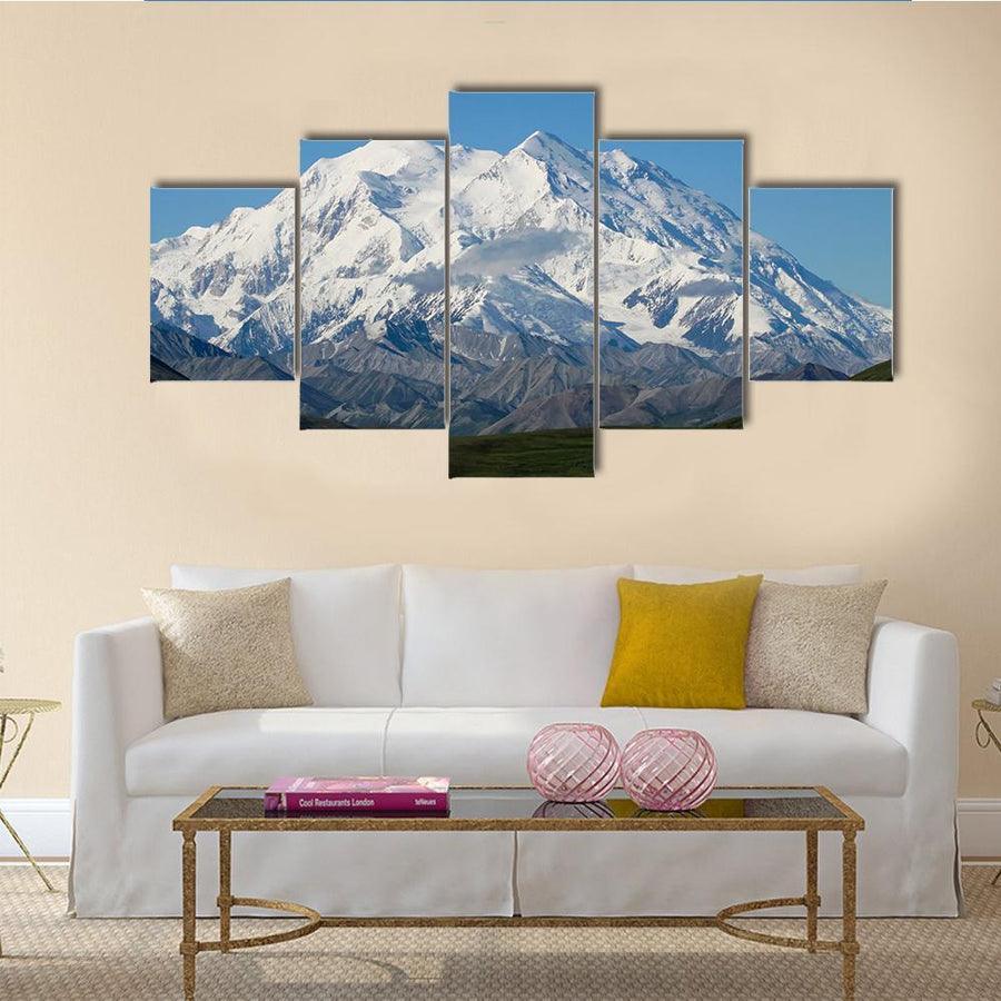 A Winding Road Leading To Mt McKinley In Denali National Park, Alaska Canvas Panel Painting Tiaracle