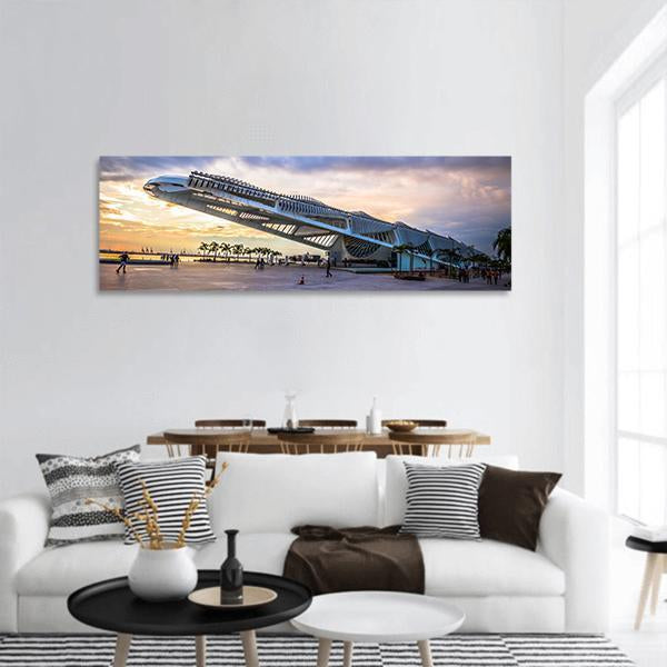 Museum Of Tomorrow In Rio de Janeiro Panoramic Canvas Wall Art Tiaracle