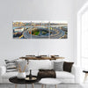 Nanpu Bridge In Shanghai China Panoramic Canvas Wall Art 3 Piece / Small Tiaracle