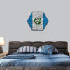 National Flag Of Guatemala Hexagonal Canvas Wall Art 1 Hexa / Small / Gallery Wrap Tiaracle