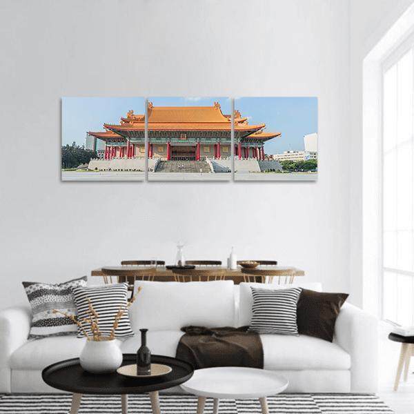 National Music Hall Of Taiwan Panoramic Canvas Wall Art 1 Piece / Small Tiaracle