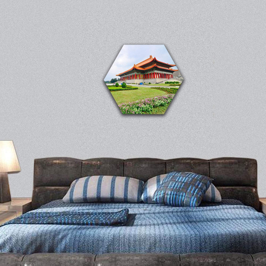 National Theater Hall Of Taiwan Hexagonal Canvas Wall Art 7 Hexa / Small / Gallery Wrap Tiaracle