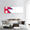Nepal Flag Panoramic Canvas Wall Art 1 Piece / Small Tiaracle