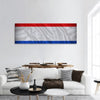 Netherlands Flag Panoramic Canvas Wall Art 1 Piece / Small Tiaracle