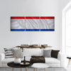 Netherlands Flag Panoramic Canvas Wall Art Tiaracle