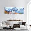 Neuschwanstein Ancient Castle Panoramic Canvas Wall Art 1 Piece / Small Tiaracle