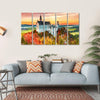 Neuschwanstein Castle In Autumn Season Multi Panel Canvas Wall Art