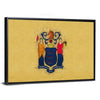 New Jersey Flag Multi Panel Canvas Wall Art-Tiaracle