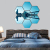 New York City Manhattan Hexagonal Canvas Wall Art-7 Hexa-Small-Gallery Wrap-Tiaracle