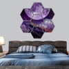 Night Abstract Earth Space Hexagonal Canvas Wall Art 7 Hexa / Small / Gallery Wrap Tiaracle