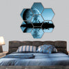 Night Landscape With Moon And Lake Hexagonal Canvas Wall Art-7 Hexa-Small-Gallery Wrap-Tiaracle