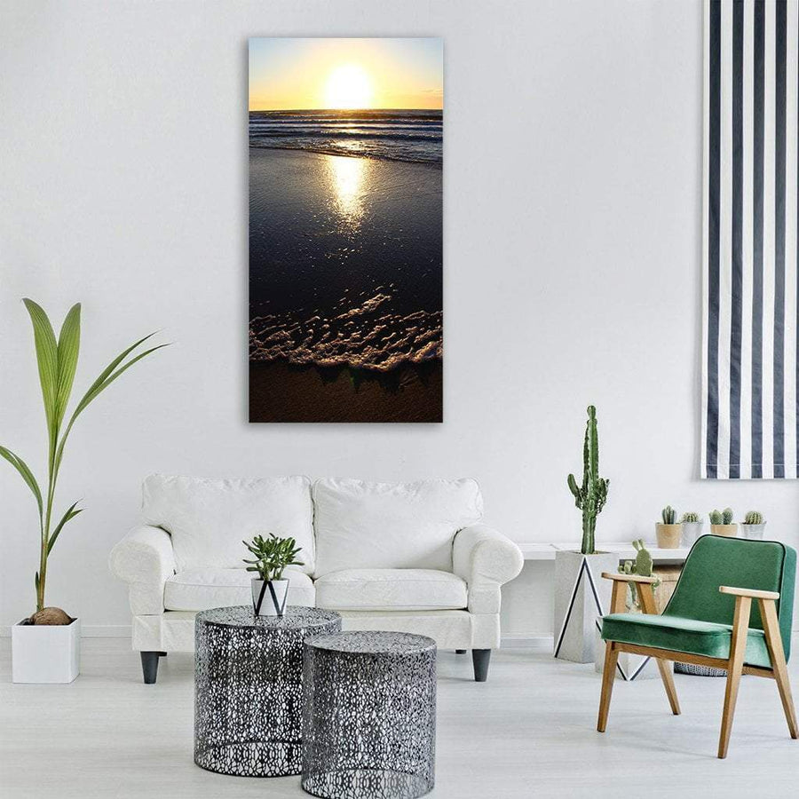 North Sea Beach In Holland Vertical Canvas Wall Art 3 Vertical / Small / Gallery Wrap Tiaracle
