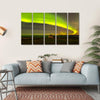 Northern Lights Above Abandoned House Multi Panel Canvas Wall Art-5 Horizontal-Small-Gallery Wrap-Tiaracle