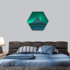 Northern Lights At Mount Kirkjufell Hexagonal Canvas Wall Art 1 Hexa / Small / Gallery Wrap Tiaracle