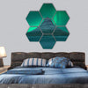 Northern Lights At Mount Kirkjufell Hexagonal Canvas Wall Art 7 Hexa / Small / Gallery Wrap Tiaracle