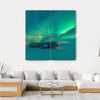 Northern Lights Over Plane Wreck Canvas Wall Art-4 Square-Small-Gallery Wrap-Tiaracle