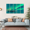 Northern Lights Over Plane Wreck Canvas Wall Art-5 Horizontal-Small-Gallery Wrap-Tiaracle