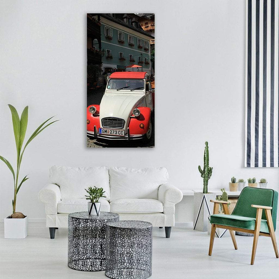 Old Car Citroen Vertical Canvas Wall Art 3 Vertical / Small / Gallery Wrap Tiaracle