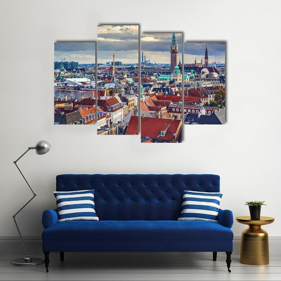 Old City Skyline Of Copenhagen Canvas Panel Painting Tiaracle