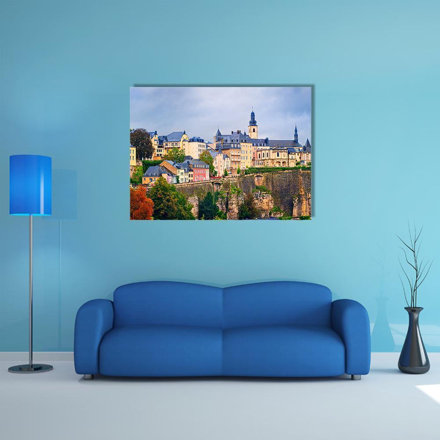 Old Town In Luxembourg City Multi Panel Canvas Wall Art 5 Pieces(B) / Medium / Canvas Tiaracle