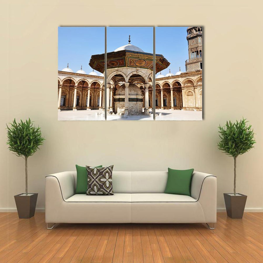 Day View Of Omayyad Mosque In Damascus Canva 4 Pieces / Medium / Canvas Tiaracle