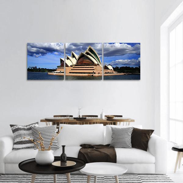 Opera House In Sydney Panoramic Canvas Wall Art 1 Piece / Small Tiaracle