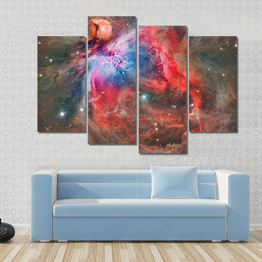 Orion Nebula Multi Panel Canvas Wall Art 3 Pieces / Small / Canvas Tiaracle