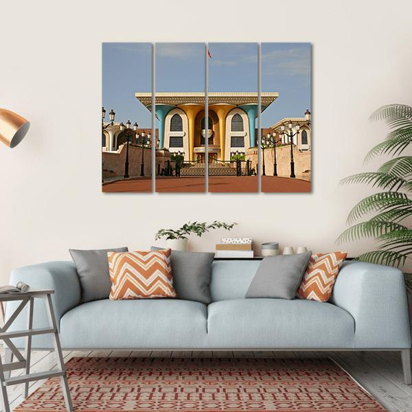 Palace Of Sultan Al Qaboos in Muscat Multi Panel Canvas Wall Art 1 Piece / Small / Gallery Wrap Tiaracle