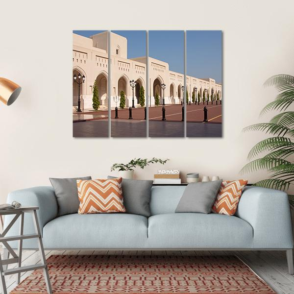 Palace Of Sultan Qaboosh In Muscat Multi Panel Canvas Wall Art 1 Piece / Small / Gallery Wrap Tiaracle