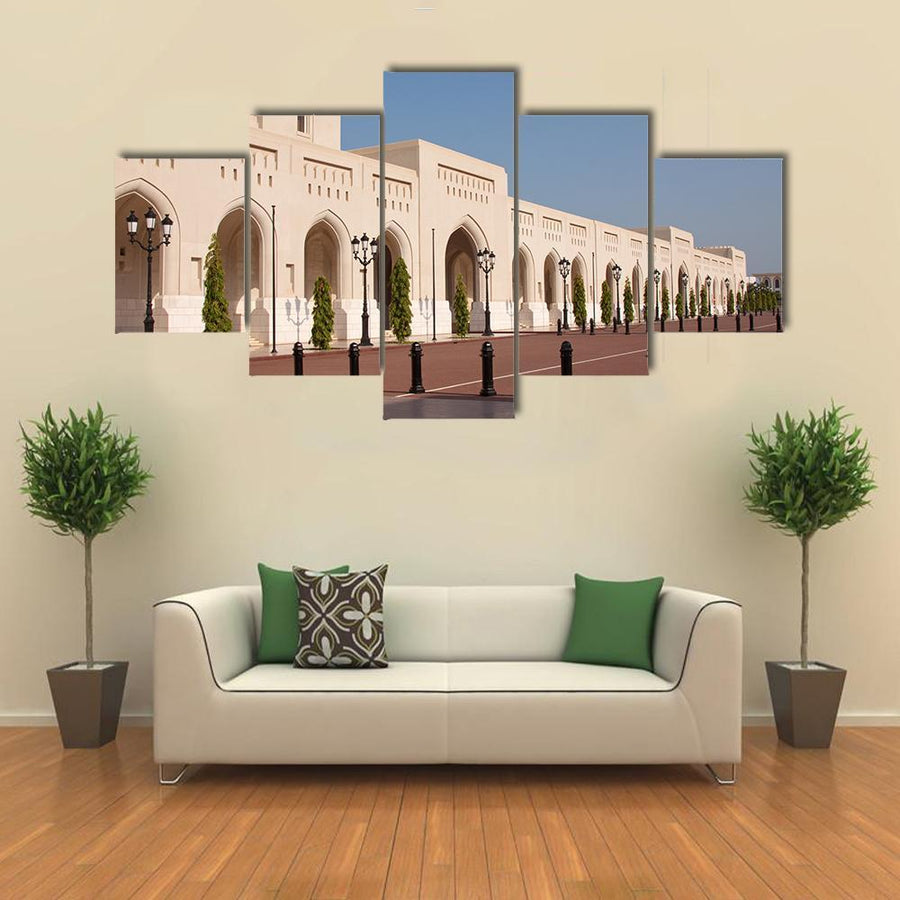 The Royal Palace Of Sultan Qaboosh In Muscat Canva 1 Piece / Medium / Canvas Tiaracle