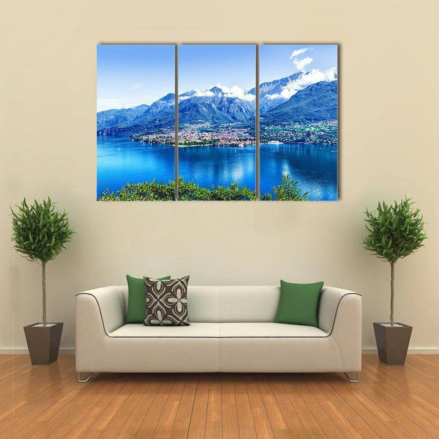 Panorama Of Como Lake Multi Panel Canvas Wall Art 5 Pieces(A) / Medium / Canvas Tiaracle