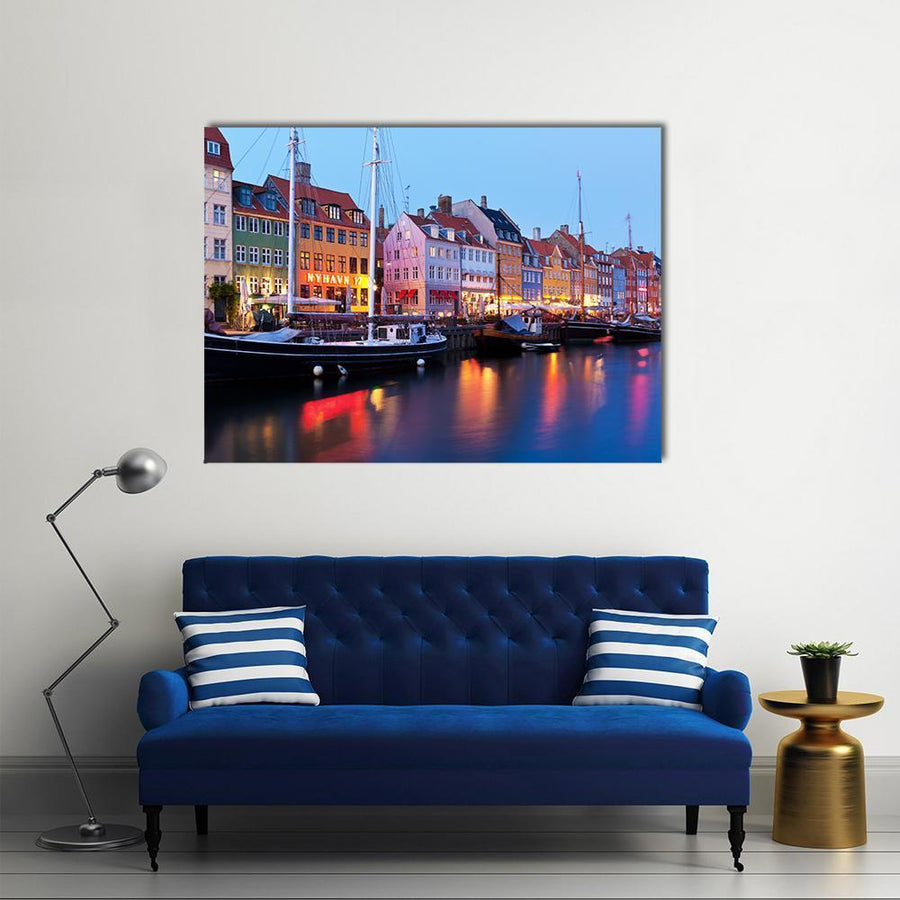 Panorama Of Historical Nyhavn In Copenhagen Canvas Panel Painting Tiaracle