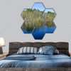 Panorama Of The Spring River Hexagonal Canvas Wall Art 7 Hexa / Small / Gallery Wrap Tiaracle