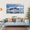 Paradise Bay In Antarctica Multi Panel Canvas Wall Art 5 Horizontal / Small / Gallery Wrap Tiaracle