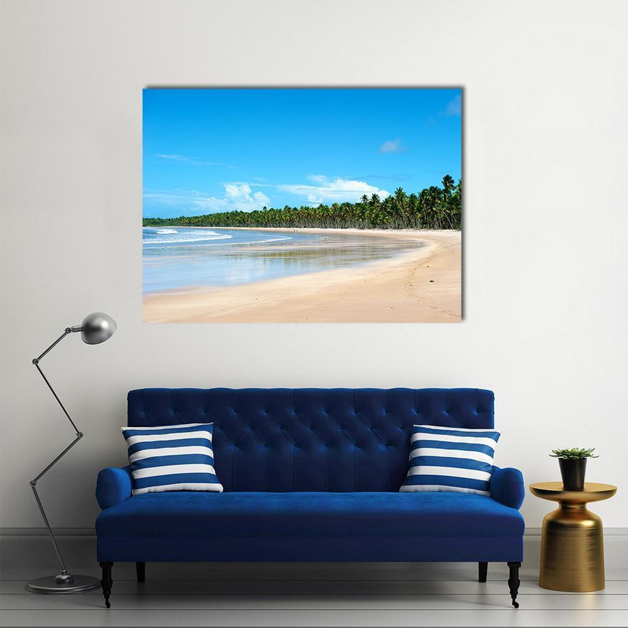 Paradise Beach In Ilha Do Boipeda Multi Panel Canvas Wall Art 4 Horizontal / Small / Gallery Wrap Tiaracle