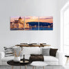 Parliament Of Budapest And Danube River Panoramic Canvas Wall Art 3 Piece / Small Tiaracle