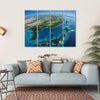 Part Of Asia And The Japanese Sea Multi Panel Canvas Wall Art-4 Horizontal-Small-Gallery Wrap-Tiaracle