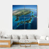 Part Of Asia And The Japanese Sea Multi Panel Canvas Wall Art-4 Square-Small-Gallery Wrap-Tiaracle
