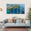 Part Of Asia And The Japanese Sea Multi Panel Canvas Wall Art-5 Horizontal-Small-Gallery Wrap-Tiaracle