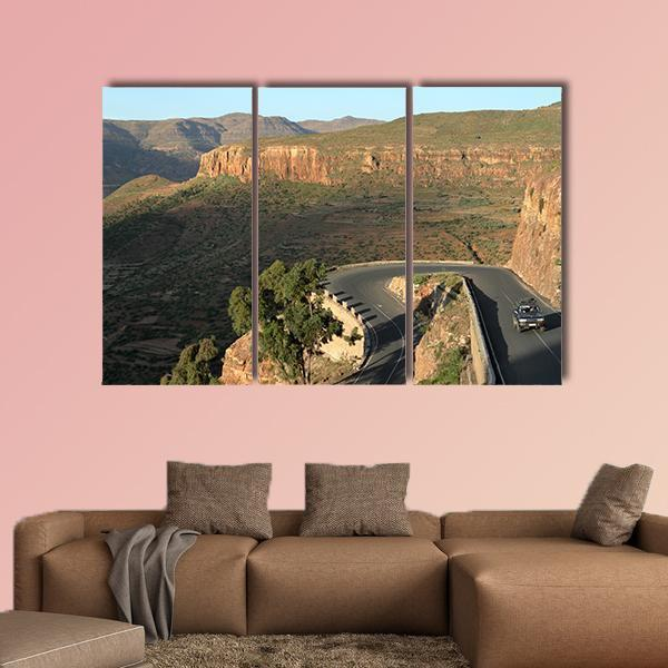Pass Roads From The Rift Valley Of Ethiopia Multi Panel Canvas Wall Art 4 Pieces / Medium / Canvas Tiaracle